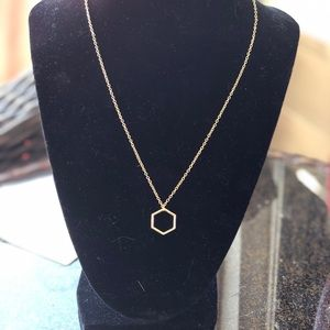 Gold l octagon Necklace
